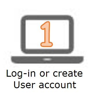 1 - log-in or create user account